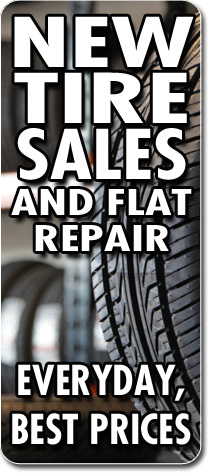 New Tire Sales and Flat Repair